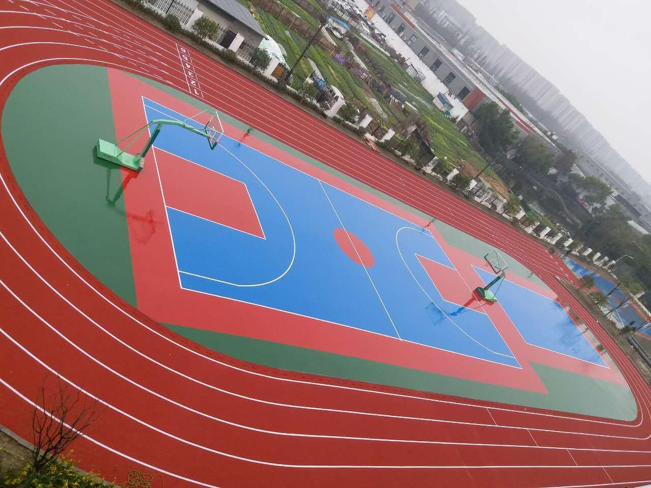 杭州御道学校塑胶跑道完工