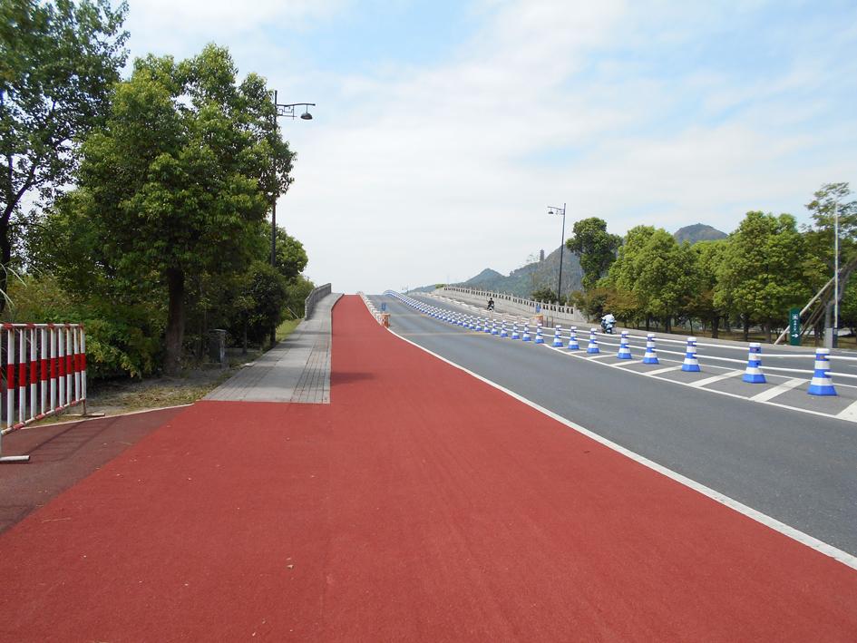 萧山湘湖景区三期防滑路面