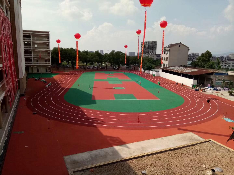 东阳南山小学透气式跑道完工